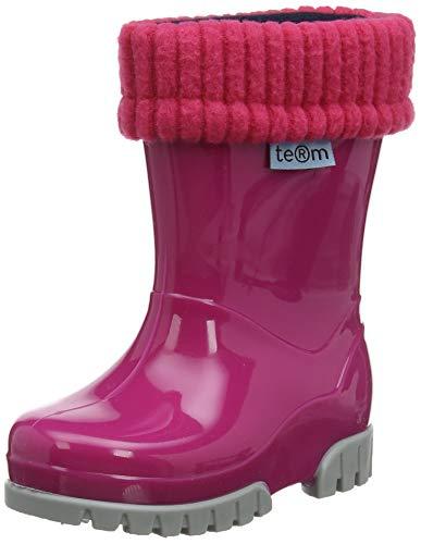 TERM Welly with Rolltop Sock, Botas de Agua Unisex Niños, Rosa (Pink 003), 22/23 EU