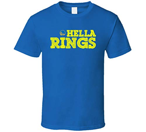 ALISUN Golden State Champs Hella Anillos Back to Back Bay Area Cool Fan T Shirt Azul Real