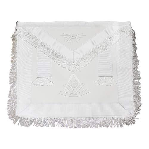 Fringed Past Master with Sun Masonic Apron - [White]