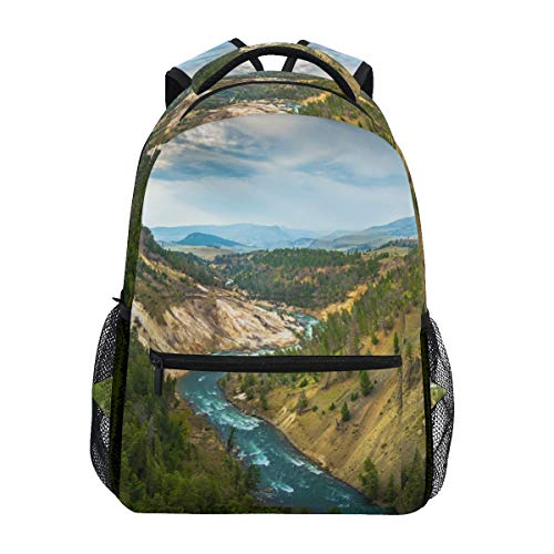 DXG1 Grand Canyon of The Yellowstone Sac à Dos Femmes Hommes Adolescent Fille Garçon Sac d'école Sac à Main Bookbag Casual Daypack Fournitures