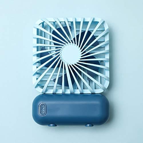 Luoshan Pequeño Ventilador, Aire Libre portátil USB portátil Plegable de Carga Ventilador del Bolsillo, Conveniente for el Recorrido/Escritorio de Oficina (Color : Blue)