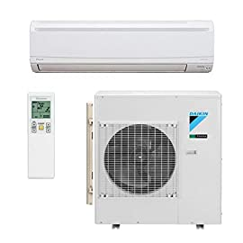 DAIKIN SkyAir FTX Series 36,000 BTU 17.9 SEER Single Zone Ductless Mini-Split System - Wall Mounted - AC Only 9 Quiet and efficient Space saving design is ideal It can be used in many installations including separate areas like a garage, basement, office or nursery.