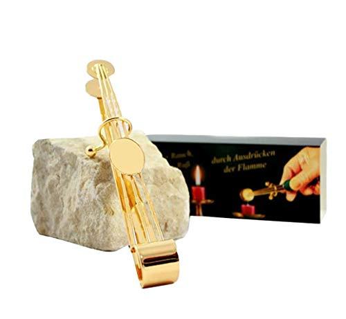 Dresden Onlineshop - Kerzenlöscher Zange zum geruchsneutralen Kerzen löschen / 18cm Lange & Elegante Kerzenzange in Gold zum Kerzen ausmachen (Farbe: Gold)