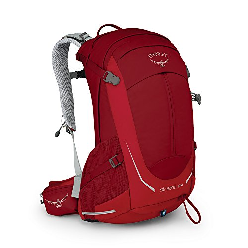 Osprey Packs Stratos 24 Hiking Backpack, Beet Red, o/s, One Size