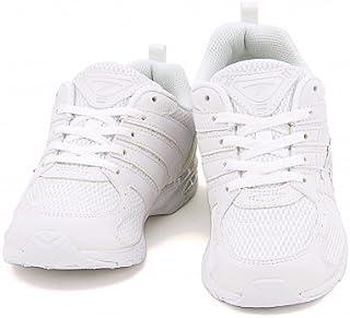 [シュンソク] SYUNSOKU 瞬足 女の子 男の子 キッズ 子供靴 通学靴 運動靴 スニーカー レースアップ ひも靴 Hi-STANDARD 白 軽量 通気性 EE 学校 スクール JJ-185 ホワイト/ホワイト 25.0cm