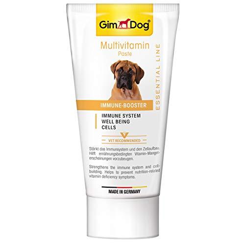 GimDog ESSENTIAL LINE Multivitamin Paste - Funktionaler Hundesnack stärkt Immunsystem und Zellaufbau - 1 Tube