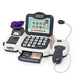 DYecHenG Caja Registradora de Juguete Niños Supermercado Pretend Play Simulation Cash Register Juguetes con Micrófono Niños Niños Educación Educativa Regalo 13pcs para el Cajero Simulado