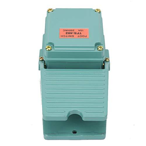Jeanoko Interruptor de Aluminio 250V 15A AC Interruptor de Pedal Interruptor TFS-402 para Equipo Textil para Dispositivo de Soldadura para Torno