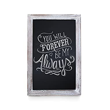 HBCY Creations Rustic Whitewashed Magnetic Wall Chalkboard, Extra Large Size 20  x 30 , Framed Decorative Chalkboard - Great Kitchen Decor, Weddings, Restaurant Menus More! … (20  x 30 )