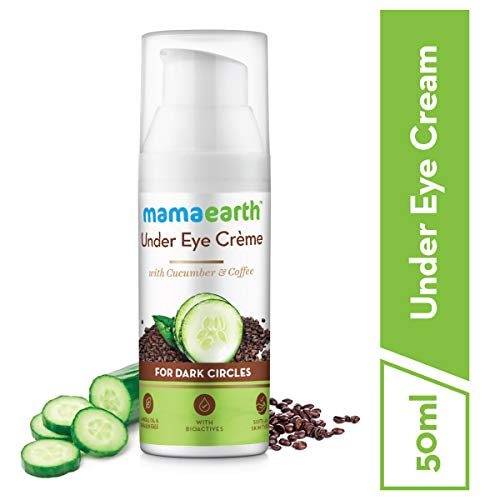 Mamaearth Natural Under Eye Cream for Dark Circles & Wrinkles with Coffee & Cucumber