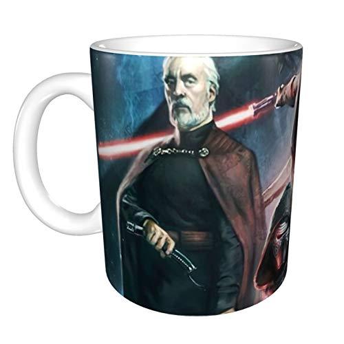 Taza personalizada de Star Wars Darth Vader (12 onzas) para cargar tu propia imagen con un mensaje personal de una línea, regalo personalizado para el día de la madre, cumpleaños, Navidad
