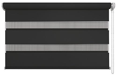 mydeco Tenda a Rullo, Alluminio, Nero, 80 x 160 cm