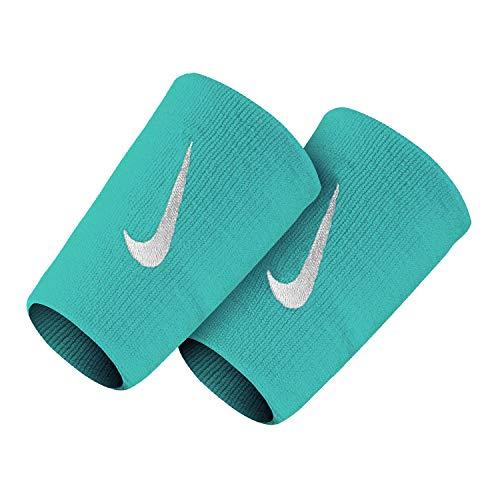 Nike Coppia Polsini Tennis Premier Doublewide Wristband Nadal del Potro (Light Aqua/White)