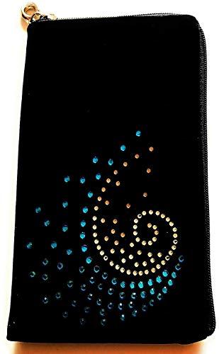 gtsk - Funda para Cubot X19S (cierre de cremallera, diseño de onda azul), color negro