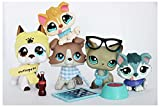 DR CATCH WOLFGIRL LPS Shorthair Cat 391 LPS Kitten 339 LPS Great Dane 577 LPS Collie 67 LPS Husky 2036 Dogs with Accessories Lot Figure Collection Kids Girls Boys Birthday Xmas Gift Set