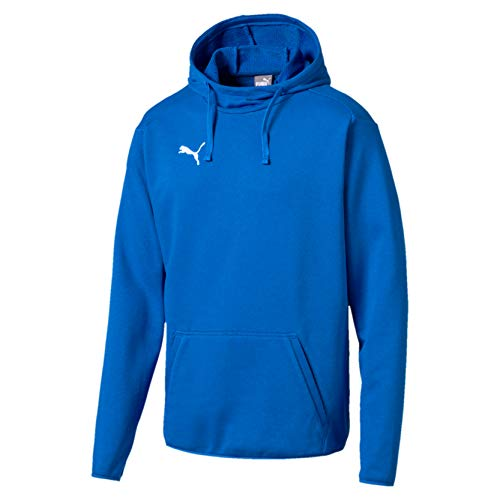 PUMA Herren Liga Casuals Hoody Sweatshirt,blau(Electric Blue Lemonade-puma white), 3XL