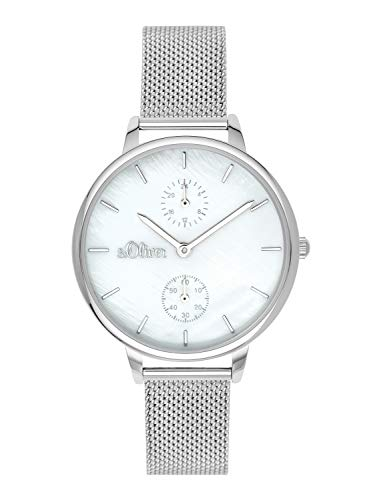 s.Oliver Time Damen Multi Zifferblatt Quarz Uhr mit Edelstahl Armband SO-3582-MM