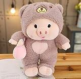 feilongzaitian Nette Babyflasche Mit Hut Schwein Kaninchen Puppe Plüsch Spielzeug Mädchen Herz Schwein Puppe 45Cm A.
