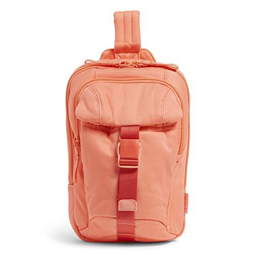 Vera Bradley Recycled Cotton Utility Sling Backpack, Desert Flower Pink