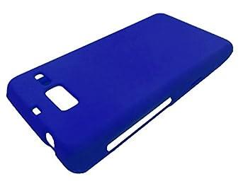 for Motorola Droid Razr M/I XT907 Luge Hard Phone Protector Cover Case + Happy Face Phone Dust Plug  Blue