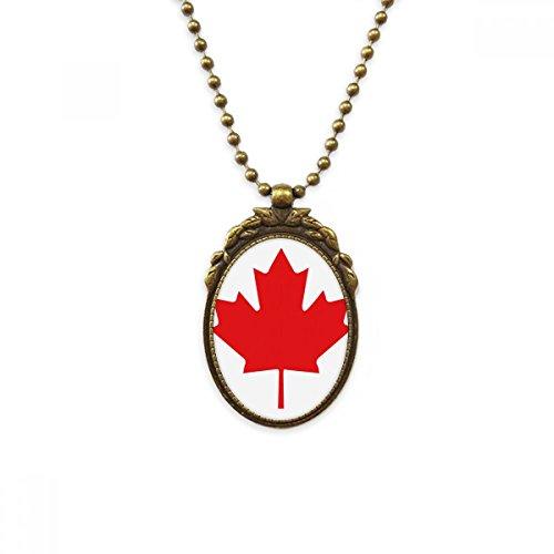 DIYthinker Red Maple Leaf Kanada Kultur Land Symbol Antike Messinghalsketten-Weinlese-Anhänger Schmuck Deluxe Geschenk