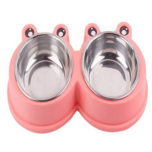 PINXIU Recipiente para Perros de Acero Inoxidable Recipiente para Alimentos para Perros no tóxico Agua Cargador para Almacenamiento de Alimentos Combinación de Resina PP Lavabo para arroz