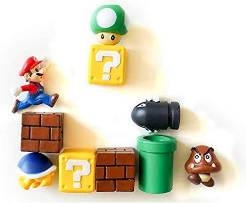 Adesivo magnetico per frigorifero, super Mario, decorazione 3D