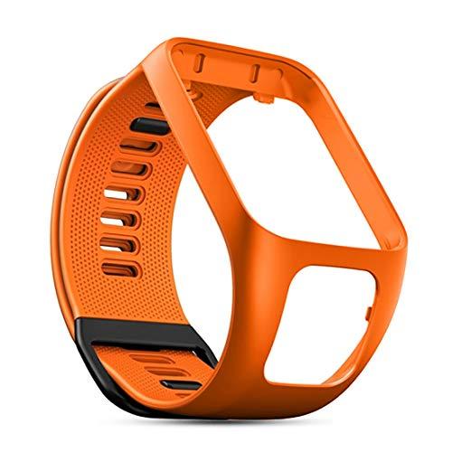 C CYEESON Bracelet de rechange en silicone souple pour montre connectée TomTom Runner 2/TomTom Golfer 2/TomTom Spark 3/TomTom Runner 3/TomTom Adventurer