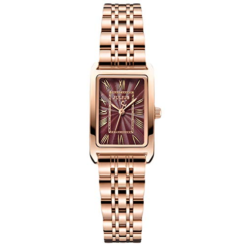 RORIOS Moda Relojes Mujer Analogico Relojes con Banda de Acero Inoxidable Impermeable Relojes de Pulsera Elegante Vestir Relojes para Mujer