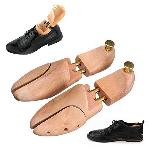 TuToy 1 Pair Adjustable Men Wooden Shoes Trees Shaper Keeper Wood Stretcher Shaper Support Tree Shaper Rack - B