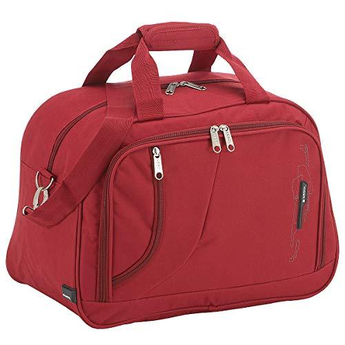 Gabol - Week | Bolso de Viaje Grande de Tela de 42 x 30 x 24 cm con Capacidad para 27 L de Color Rojo