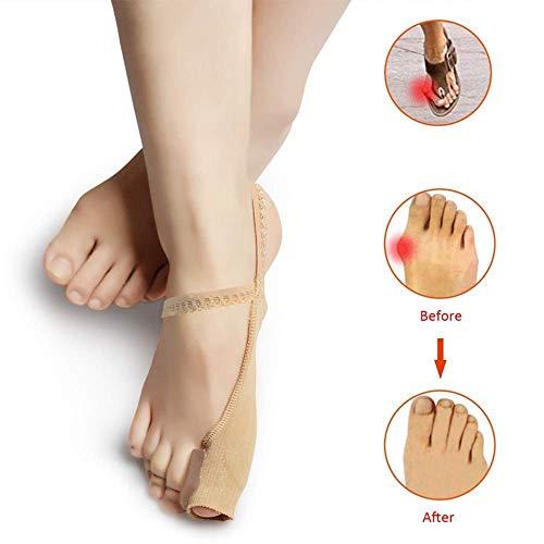 Cxmm Bunion Corrector, Bunion Corrector Big Toe Straightener para Valgus, diseño único Evita caídas, Funda de Silicona, Uso diurno y Nocturno, Puede Usar Zapatos