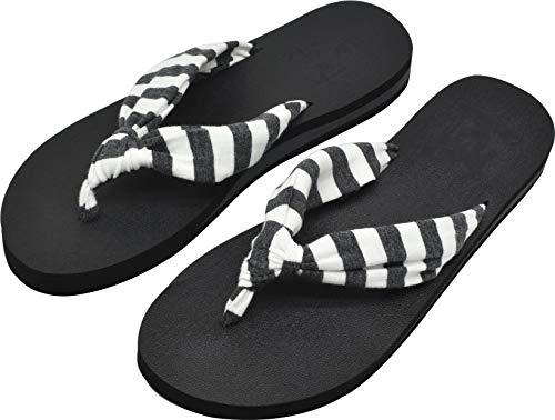 KuaiLu Flip Flops Damen Stoff Weich Yoga Matte Sandalen Leicht Badelatschen Bequeme Anpassungsfähige Sommer Strand Zehentrenner
