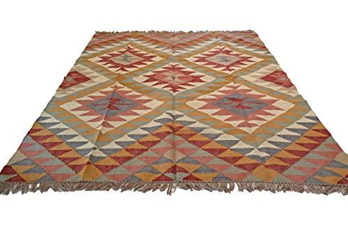 Kelim-Teppich, Jute, handgeknüpft, indisch, Kastanienbraun, 300 x 240 cm, Afganischer Stil
