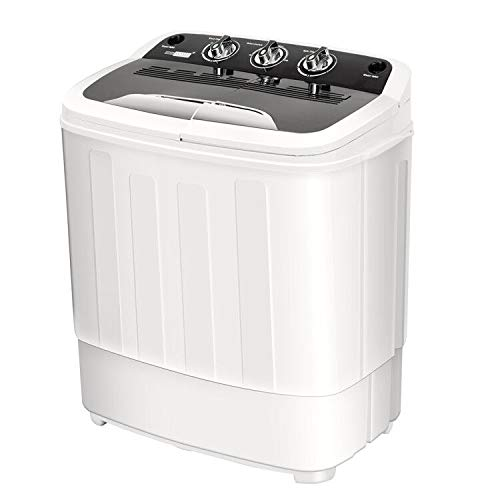 VIVOHOME Electric Portable 2 in 1 Twin Tub Mini Laundry Washer and Spin  Dryer Combo Washing Machine with Drain Hose for Apartments 13lbs Capacity