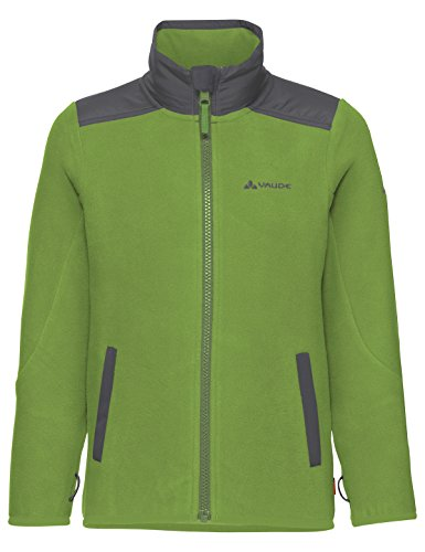 VAUDE Kinder Racoon Fleece Jacket Jacke, Green Pepper, 122/128