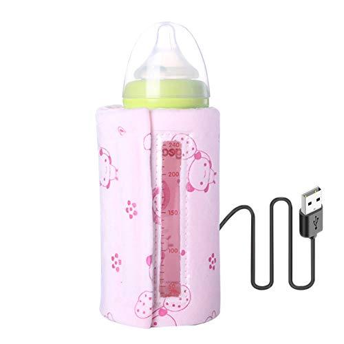 Met USB flessenwarmer zak Baby Baby zakken van melk Water Verwarming Coffee Warmer,Pink