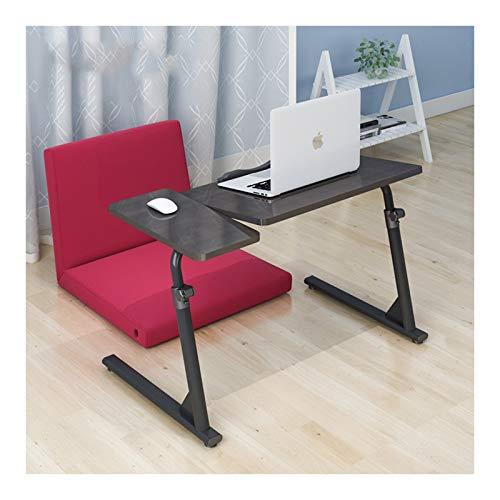 FurnitureR Mesa plegable con bandeja para portátil - Escritorio para portátil de altura ajustable con tablero de ratón 50~70cm de elevación Mesa de bandeja de TV Escritorio de la bandeja del libro par