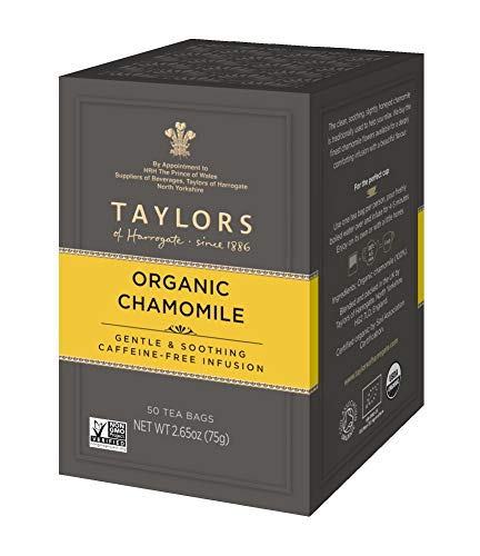 Taylors of Harrogate Organic Chamomile Herbal Tea, 50 Teabags
