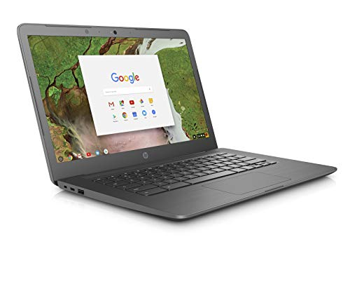 HP Chromebook 14-ca000na 14-Inch Laptop - (Grey) (Intel Celeron Dual Core, 4 GB RAM, 32 GB eMMC, Intel HD Graphics 500, Chrome OS)