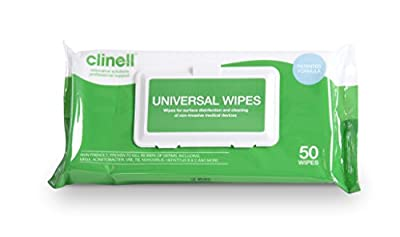 Clinell Universal Wipes - Adhesive Back Pack of 50 from Gama Healthcare