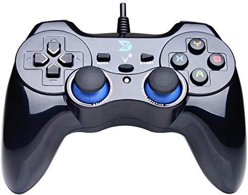 GXT Gamepad IFYOO ZD-V + Vibration-Feedback USB-kabelgebundener Gamepad-Controller Joystick-Support-PC (Windows XP / 7/8/8/8.1/10) & PS3 & Android