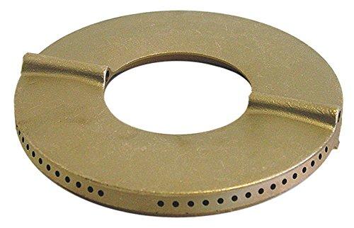 MBM-Italien Brennerdeckel für Gasherd mit Mittelloch 7000W ø 140mm mit Mittelloch EP außen