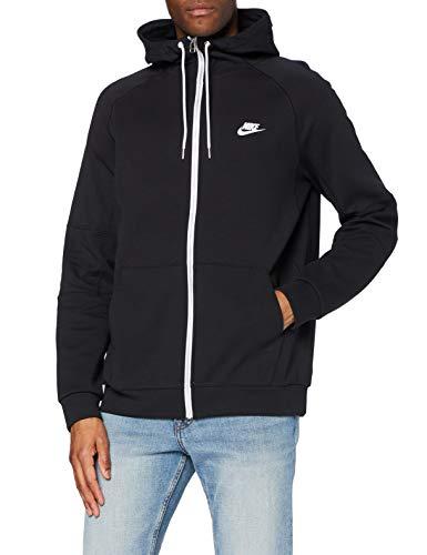 Nike Męska M Nsw nowoczesna bluza z kapturem Fz Flc czarny Czarny/Ice Silver/White/(White) m