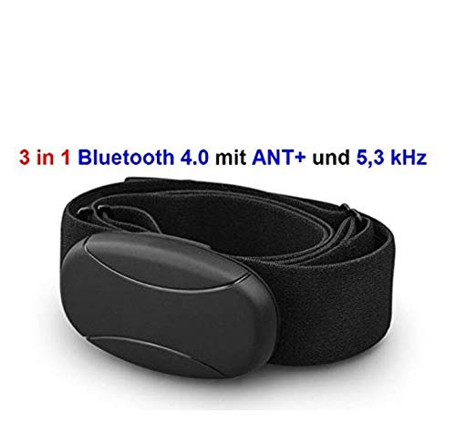 Sangle de poitrine Bluetooth 4.0 et ant et 5 Khz uncodiert pour application Runtastic, Wahoo, strava, pour iPhone 4S/5/5 C/5S/6/6S/6 plus/se/7/7S/7 Plus/8/X ou pour applications comme endomondo runkeeper Polar Beat Road Bike runmeter Cardiofréquencemètre