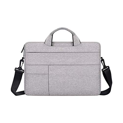 Hengxing Travel Work Laptop Bag Computer Shoulder Bag Slim Handbag for Men Women Birthday Gifts,14.1Light Gray,14.1inch