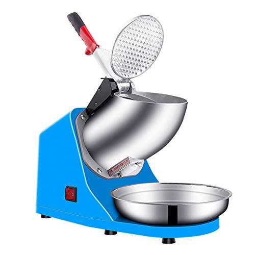 250W Électrique Ice Shaver Machine Glace Pilée, Machine à Cône à Neige avec Lame en Acier Inoxydable et Micro-Interrupteur de Protection, 143 Livres