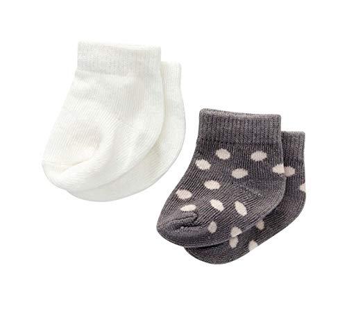 byAstrup Calcetines para muñeca, 30-35 cm, 2 pares, color blanco/gris