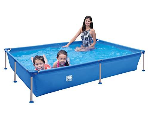Happy People Wehncke - Frame Pool - Aufstellpool - rechteckig - 228 x 159 x 42 cm - blau - ohne Pumpe