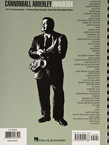 Cannonball Adderley - Omnibook: for C Instruments (Jazz Transcriptions)